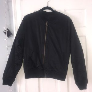 PERFECT CONDITION BLACK BOMBER JACKET